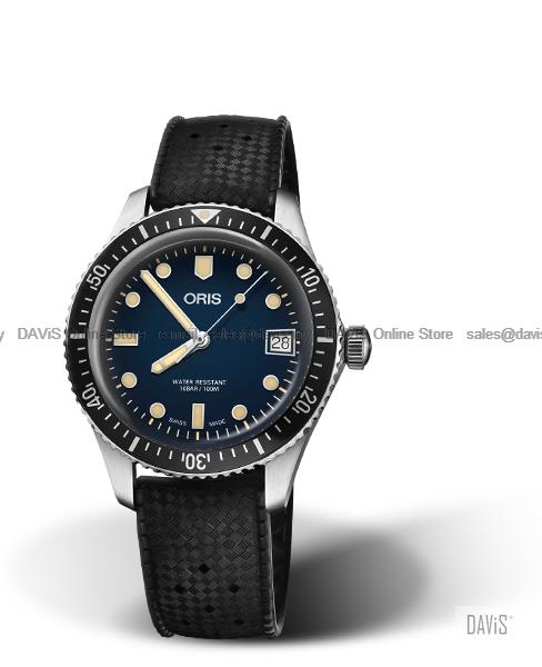 ORIS 0173377474055-0741718 Men's Divers Sixty-Five Auto Rubber Blue