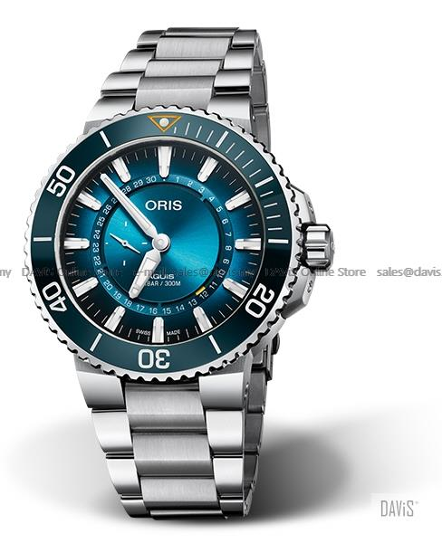 ORIS 0174377344185-Set Men's Aquis Great Barrier Reef Ocean Project LE
