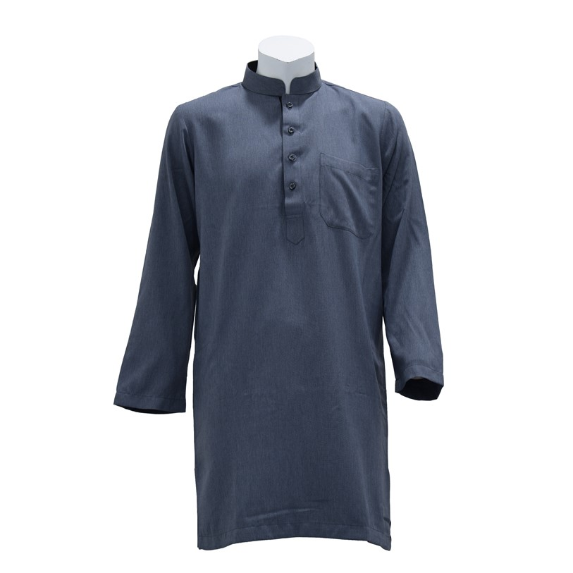 Orlando Muslim Wear Long Sleeve Kurta (Grey-97)