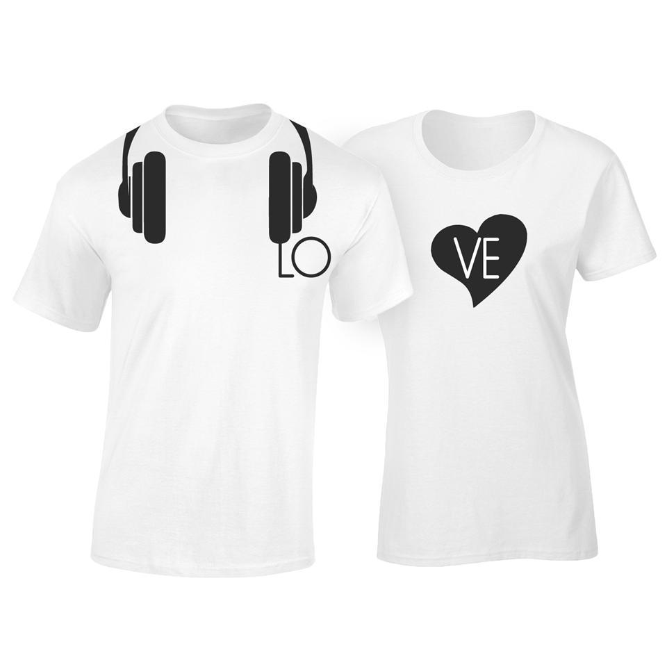 Couple t shirt design white - Os532c Osummer Love Couple T Shirt 2pcs