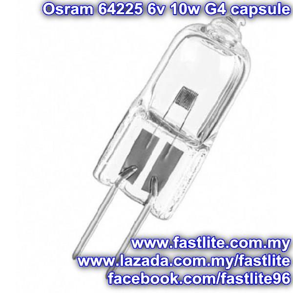 Osram 64225 6v 10w G4 FHD/ESA Microscope Display Optic lamp