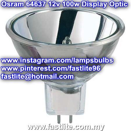 Osram 64637 12v 100w GZ6.35 EBV A1/271 Display Optic lamp