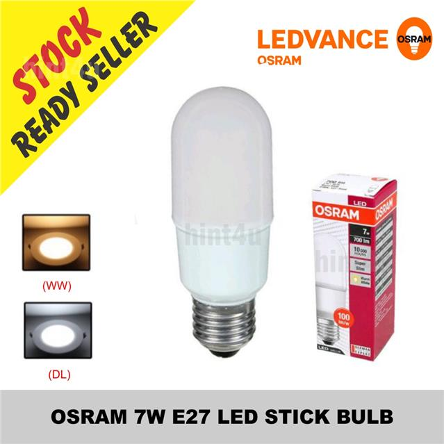 osram 7w e27 led stick bulb sirim end 9 5 2018 7 15 am. Black Bedroom Furniture Sets. Home Design Ideas