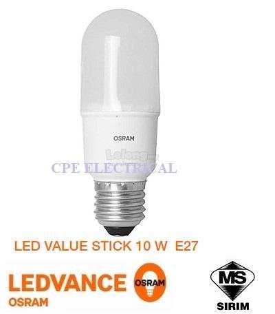 Osram Bulb Led E27 220 Stick 10w 240vsirim Value kN0nX8OPZw