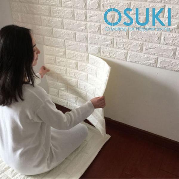 Osuki 3pcs 77x70cm Extra Thick 3d Wall Stickers Home Decor Wallpaper
