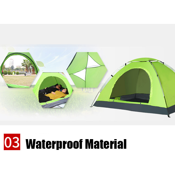 OSUKI Camping Tent 2-3 Person Automatic Rapid With Door 1 Window (Blue