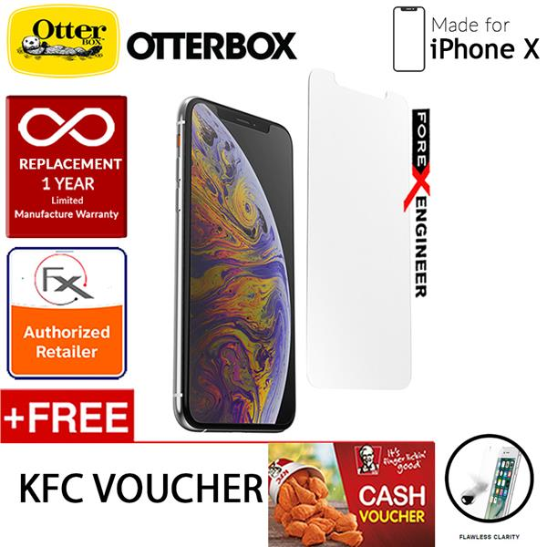 separation shoes d147b 1499a OtterBox Alpha Glass Screen Protector for iPhone X - Clear