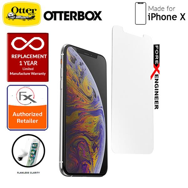 separation shoes f3e18 3f6a6 OtterBox Alpha Glass Screen Protector for iPhone X - Clear
