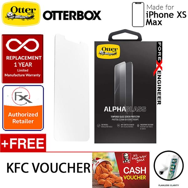 best service fba84 09c43 OtterBox Alpha Glass Screen Protector for iPhone Xs Max - Clear
