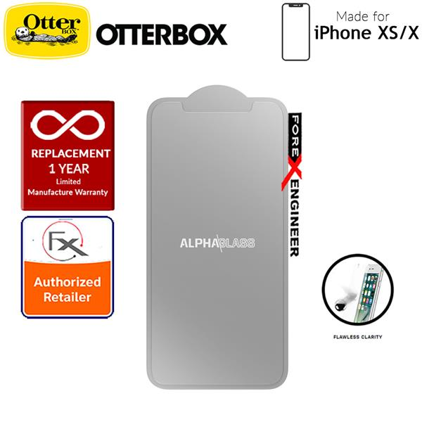OtterBox Alpha Glass Screen Protector for iPhone Xs / X - Clear