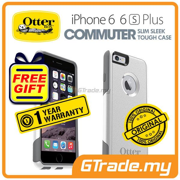 new style 4552e d9ba2 OTTERBOX Commuter Case Slim Mighty | Apple iPhone 6S 6 Plus - Glacier