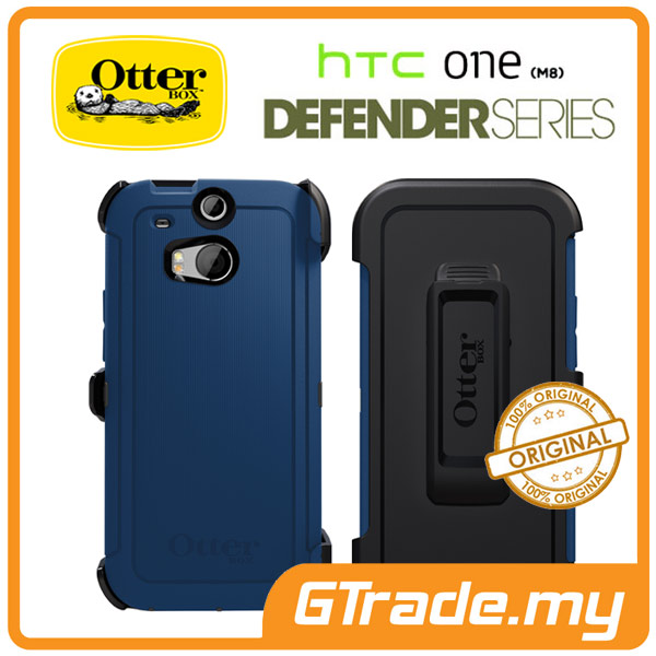 new product 98a72 e1684 OTTERBOX Defender Case + Klip Holster | HTC One M8 - Blue Print