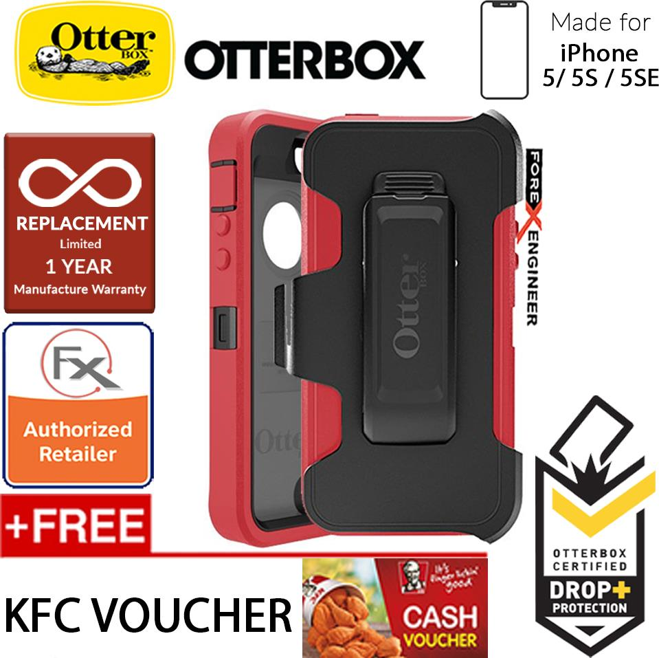 new arrival c5159 a9d3e OtterBox Defender Series for iPhone 5 / 5s /SE - Raspberry