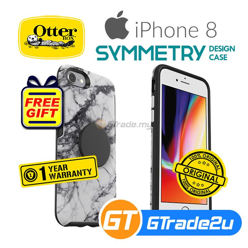 size 40 ddc91 42bbe Otterbox PopSockets Symmetry Slim Protect Case Apple iPhone 8 7 Marble