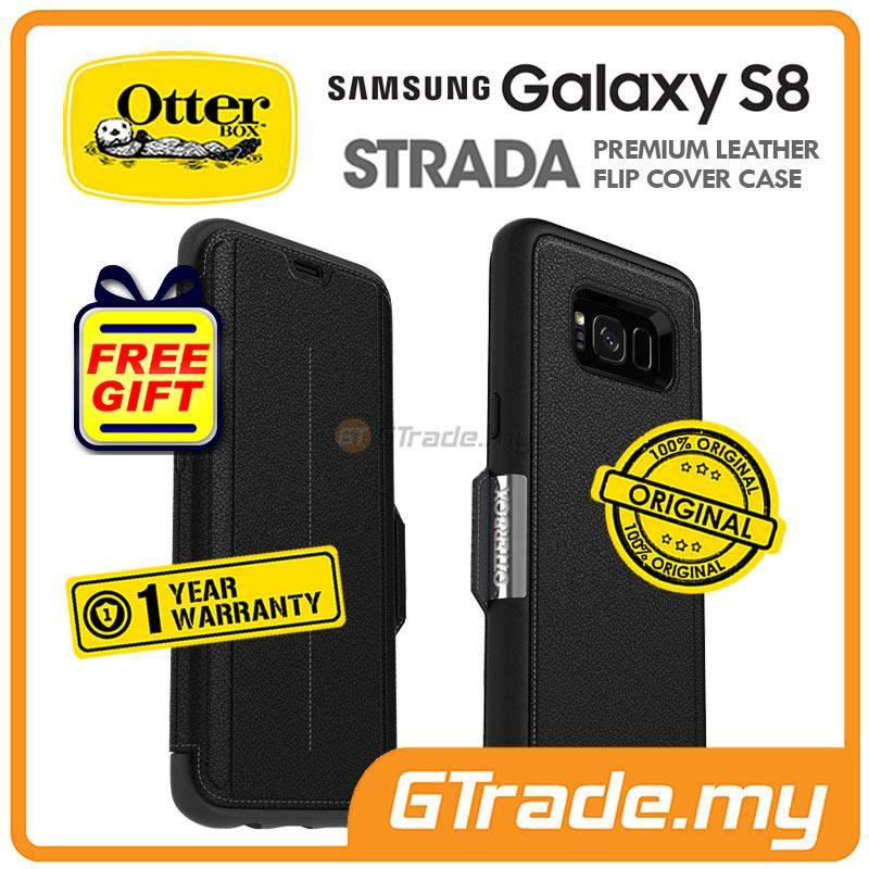 brand new 075ad 662c7 OTTERBOX Strada Premium Leather Case | Samsung Galaxy S8 Onyx