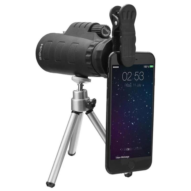 Outdoor 50X Mobile Phone Camera Monocular Telescope Lens + Tripod