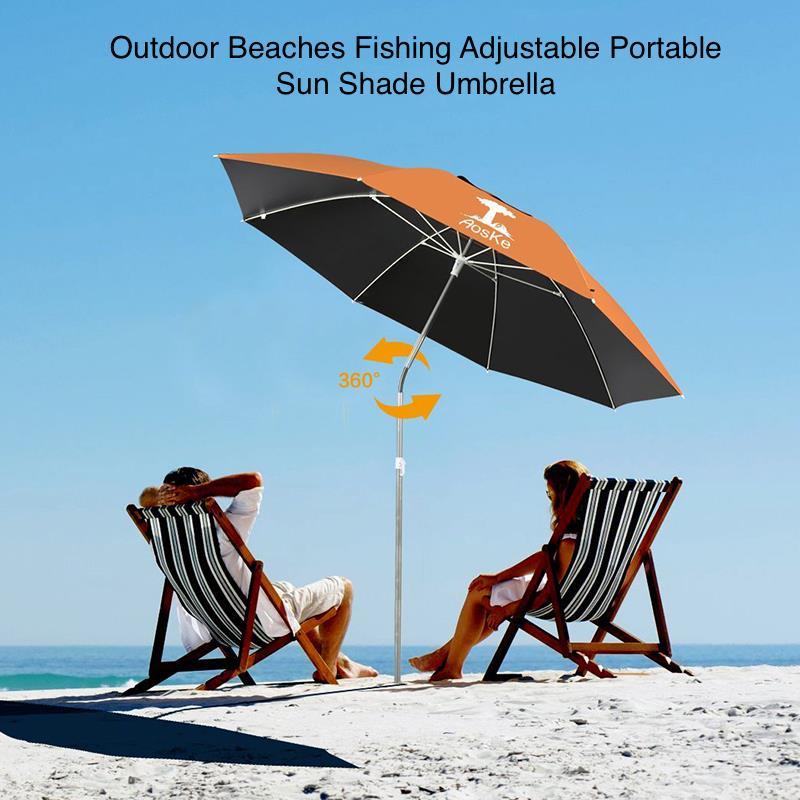Outdoor Beach Fishing Portable Adjule Sun Shade Umbrella