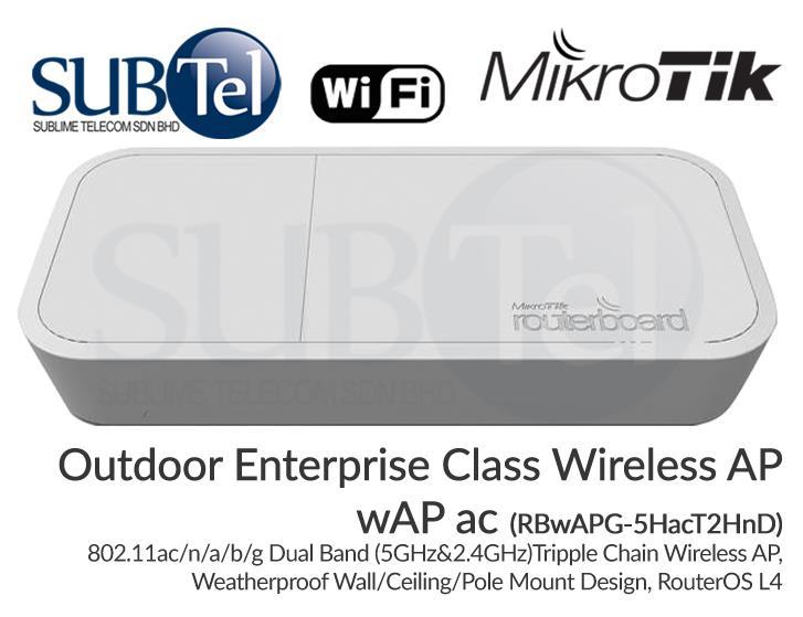 Outdoor Ceiling Dual Band WiFi AP wAP ac RBwAPG-5HacT2HnD Mikrotik