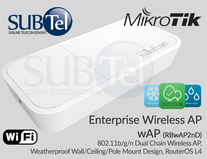Outdoor Ceiling Wall Mount 2 4GHz WiFi Access Point AP Mikrotik wAP