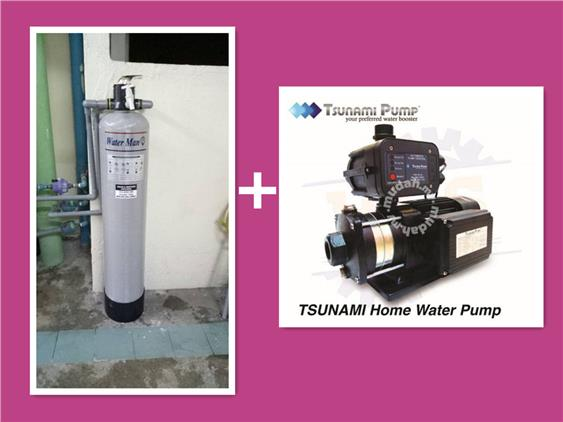 Outdoor Combo Water Filter + Tsunami Water Pump