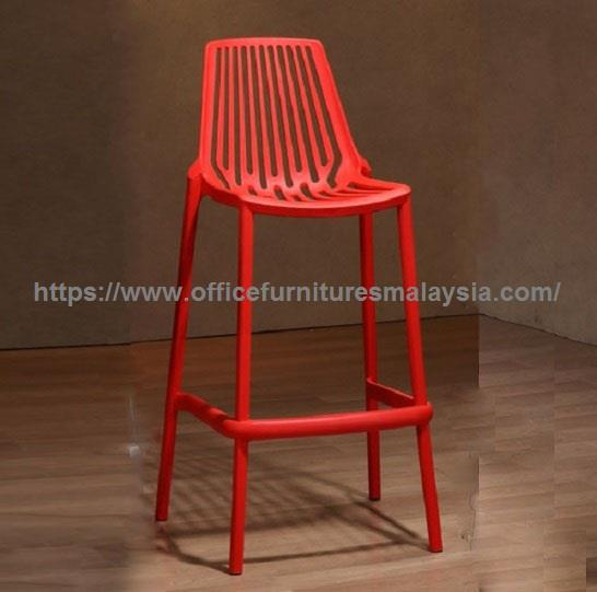 Outdoor Counter Height Polypropylene Bar Stool YGBSD-3169BL/GY/R/YE KL