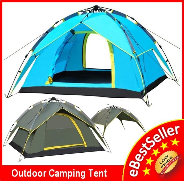 Outdoor Double Layer & Door + 2in1 Picnic Auto Camping Tent FREE BAG