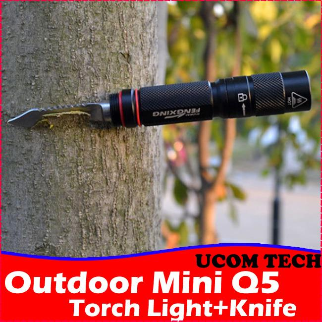 Outdoor Mini Cree Q5 Led Torch Light Knife Rechargeable Torchlight