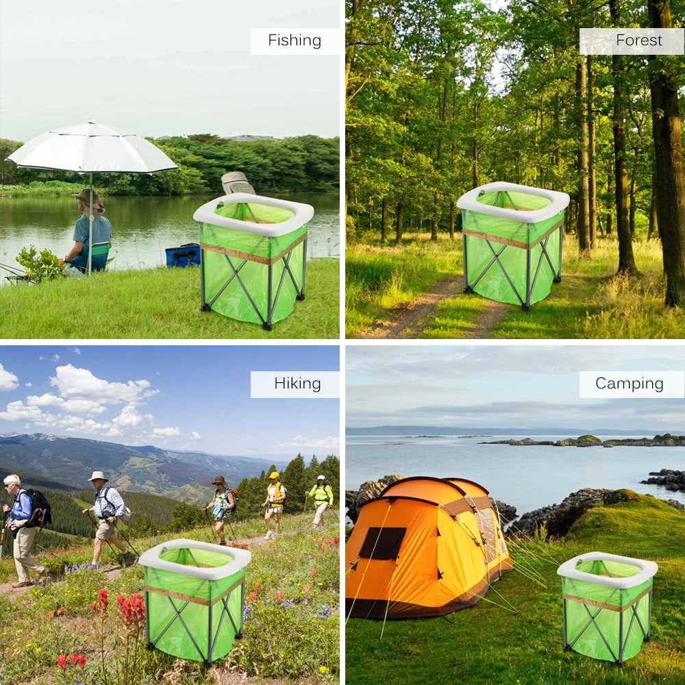 Outdoor Portable Folding Toilet Lightweight Comfortable Toilet Seat Chair for