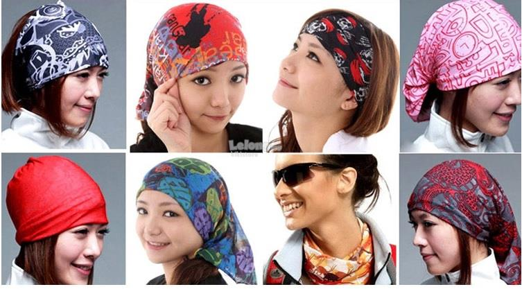 Outdoor Sport Turban Magic Headband Bandanna Face Mask Head Scarf cbb86f2b1