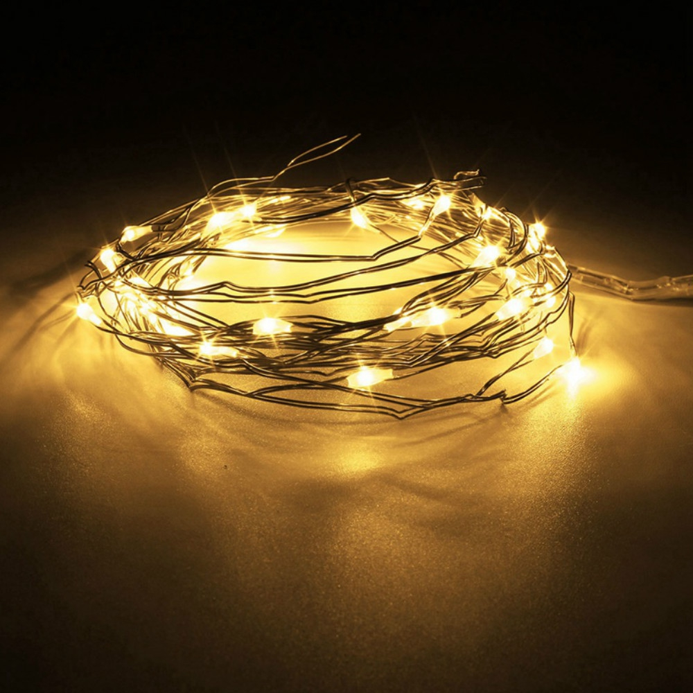 Outdoor String Lights - Led Copper String Light - 3m Copper Wire Led S..