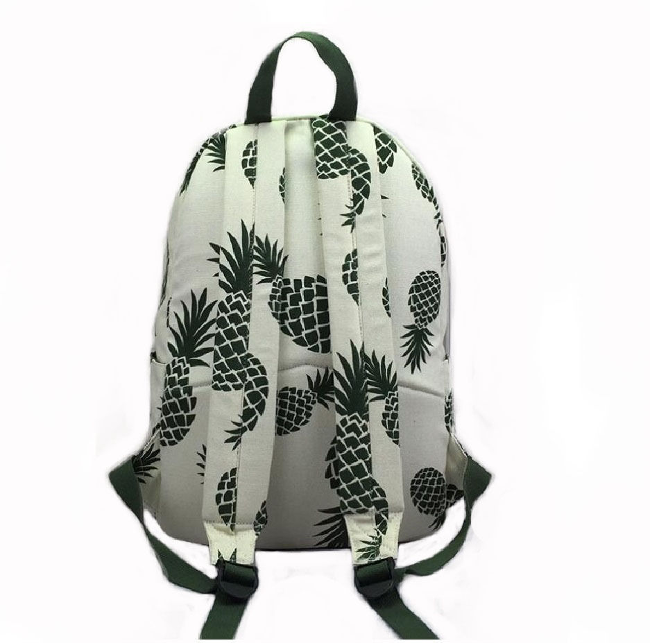 7357b1c6695 Outdoor Travel Bags Women Canvas Backpack Portable Casual Daily Pineap