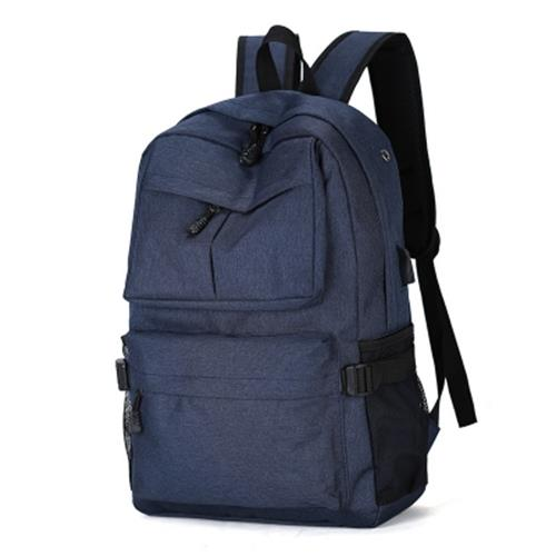 OUTDOOR TRAVEL COMPUTER BACKPACK TRAVEL BACKPACK STUDENT BAG (BLUE)