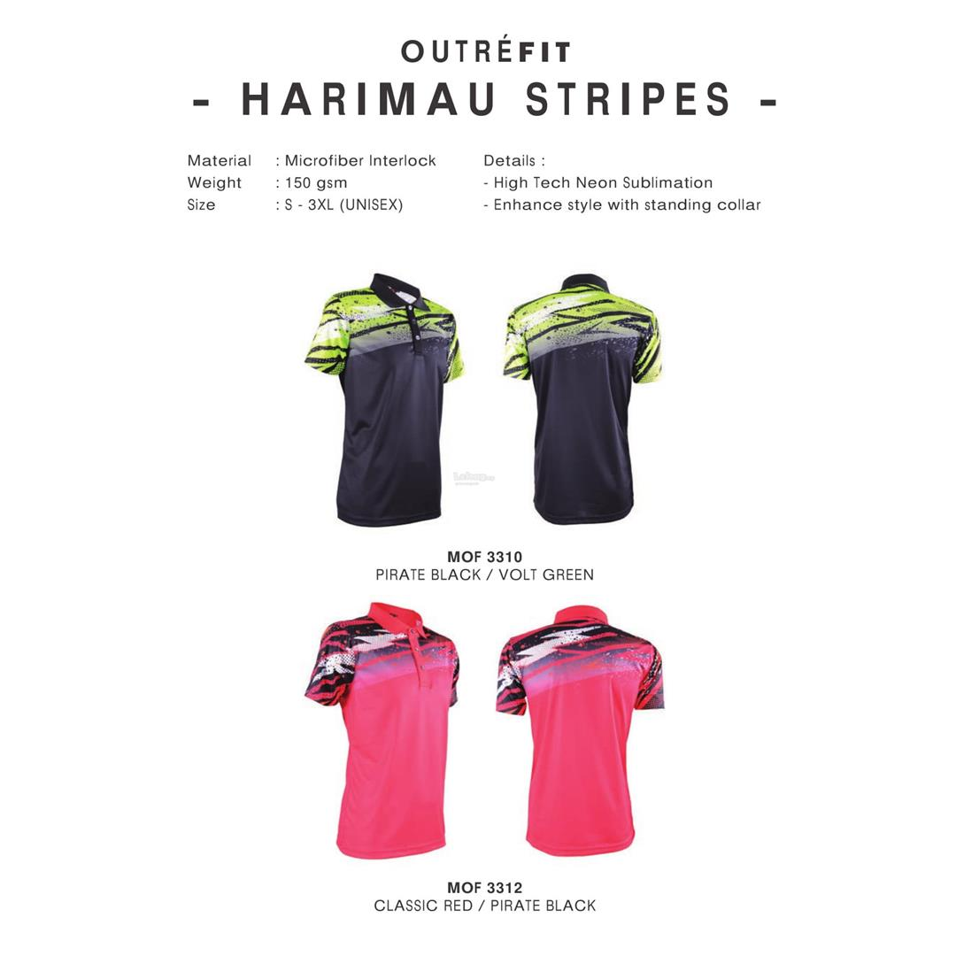 Outrefit Unisex Harimau Stripes Polo Jersey MOF33