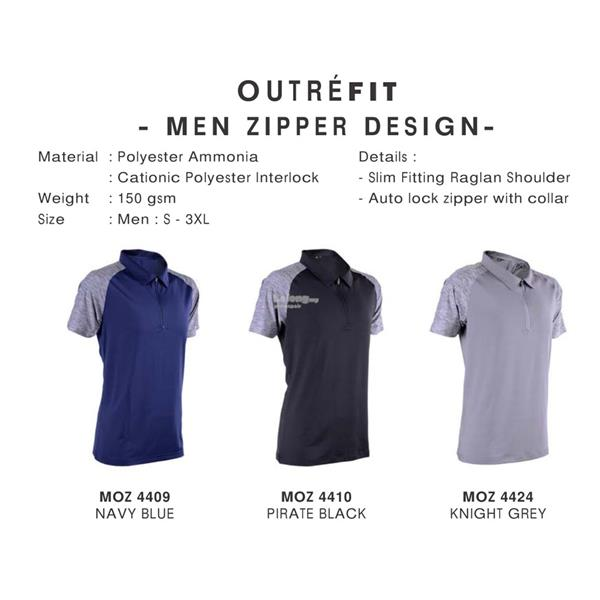Outrefit Zipper Design Jersey MOZ44 (Men)