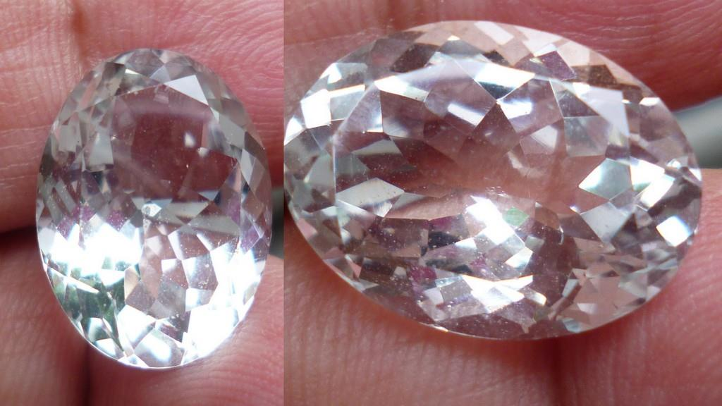OVAL FACETED CLEAR TOPAZ 15.50 CTS