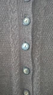 Overcoat Sweater Brownie With Buttons For Ladies