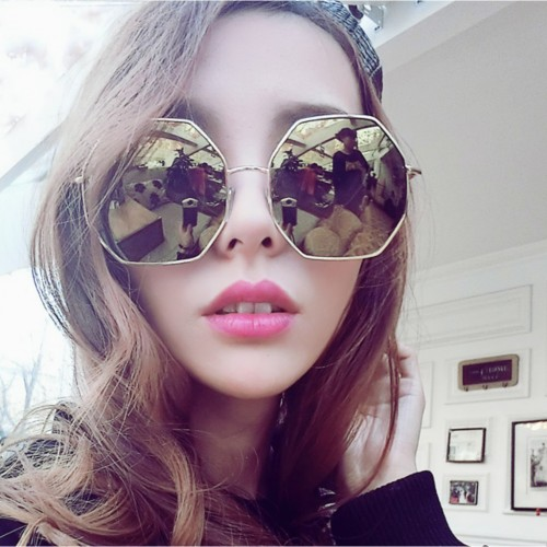 e639f960c01 Oversized Octagon Mirrored Sunglasse (end 4 8 2019 10 24 AM)