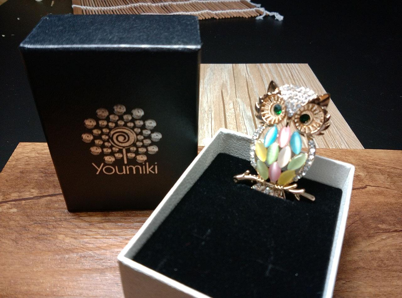 Owl Colorful Body Brooch