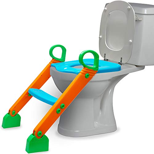 OxGord Toilet Potty Step Trainer for Kids and Toddlers Training Seat