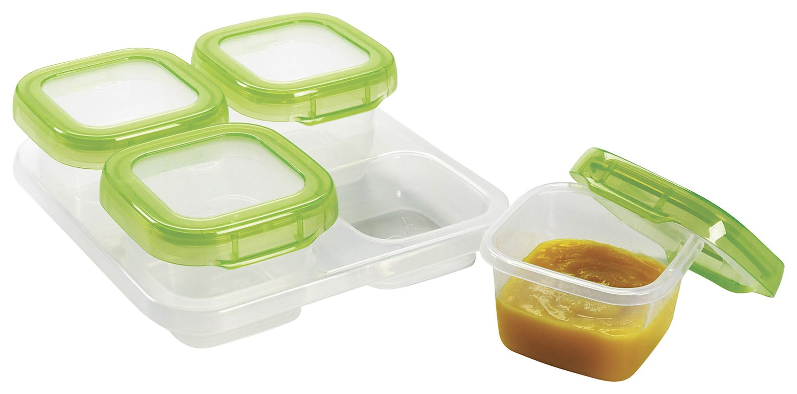 OXO Tot   Baby Blocks Freezer Storage Containers   Green   4oz