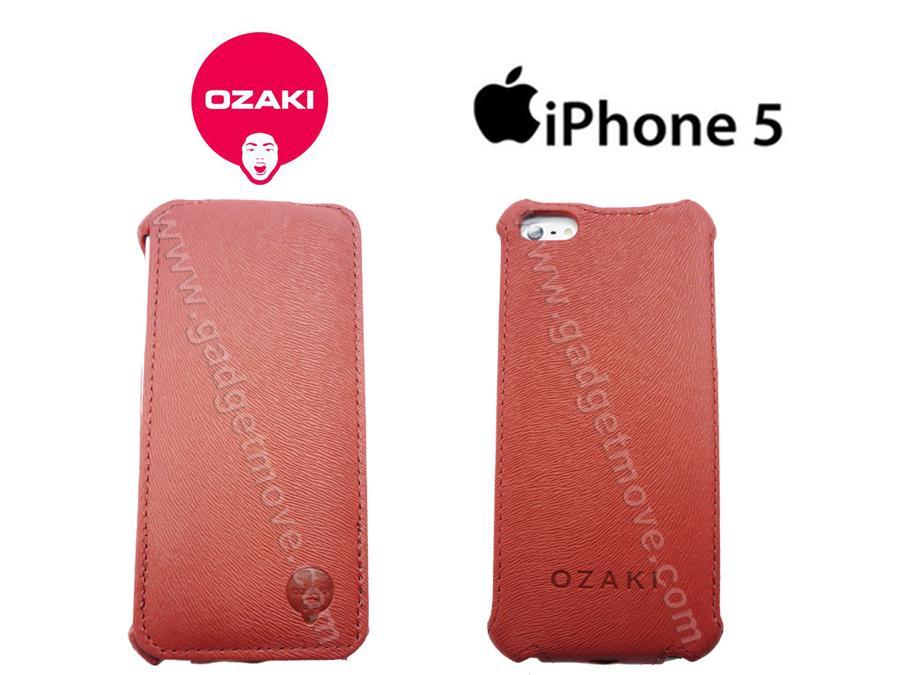 watch 12f7a 351b4 Ozaki Apple Iphone 5S 5 SE vertical Flip Down leather case Cover Case