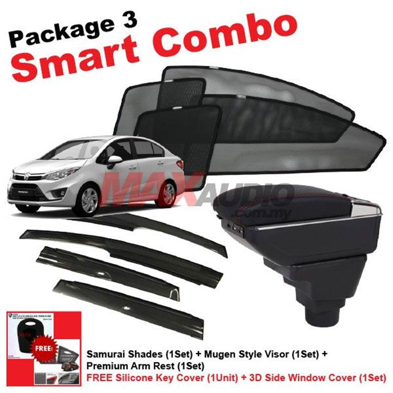 P3* PROTON PERSONA 2016 SAMURAI SHADES + Arm Rest + Door Visor
