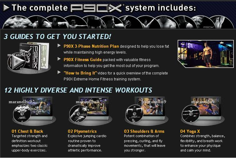 P90 + P90M + P90X - Most Extreme Home Fitness Training System Ever!
