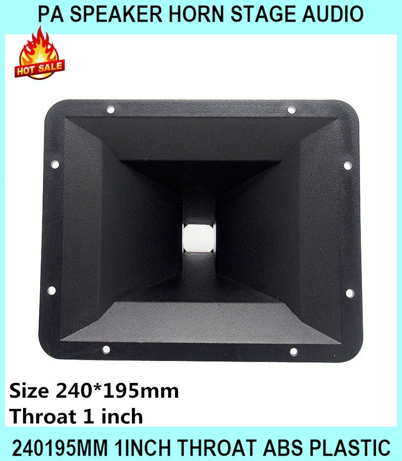 Pa Speaker Horn Stage Audio 240195mm 1inch Throat Abs Plastic For Home