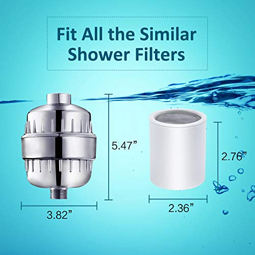 ~ Pack of 2, 12-Stage Replacement Shower Water Filter Cartridges with Vitamin