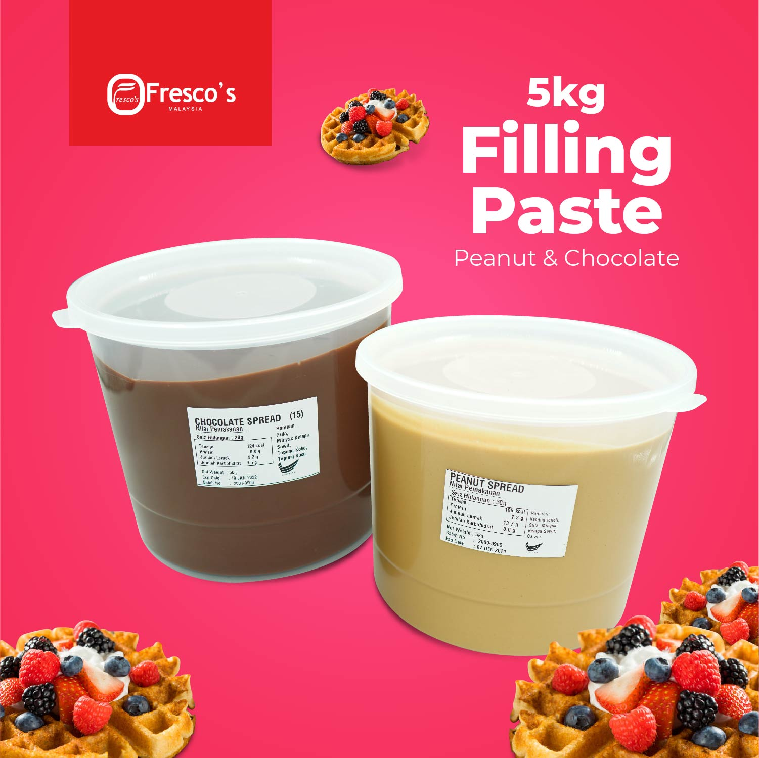 PACKAGE FRESCO WAFFLE SINGLE MACHINE ELECTRIC STREETFOOD