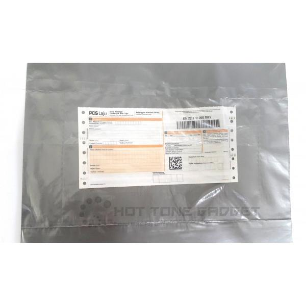Packaging plastic bag pos laju flyers courier medium with pocket
