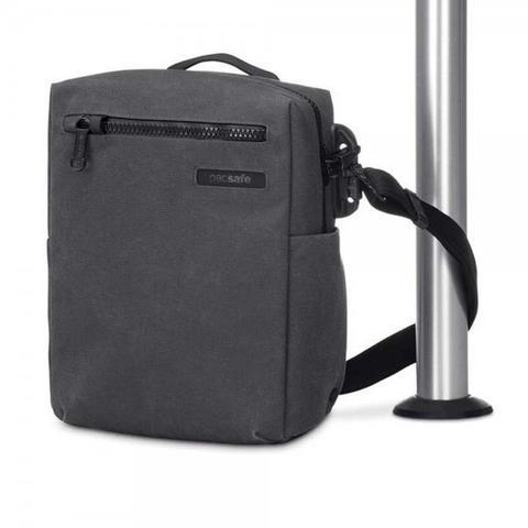 "PACSAFE INTASAFE CROSSBODY ANTI-THEFT 10"" TABLET BAG - CHARCOAL"