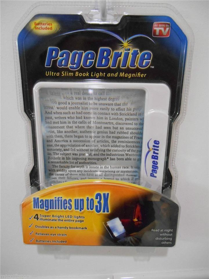 Page Brite LED Lighted 3x Book Magazine Newspaper Magnifier