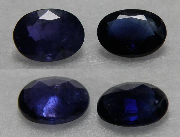 A pair of excellent royal blue Sapphire oval facet 1.35CT - SP152